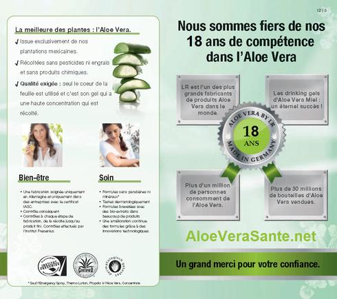 AloeVeraSanté | LR Health and Beauty Systems. 18 ans de compétence et succès avec l'aloe vera