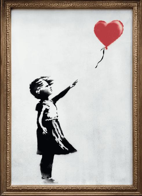 Самые известные работы Бэнкси - Девочка с воздушным шаром (2006)