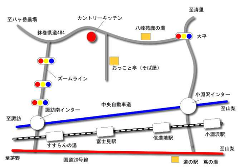 富士見高原MAP(地図)