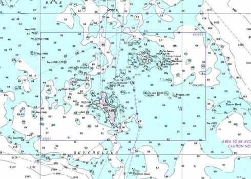 Seychellen angeln Seekarte