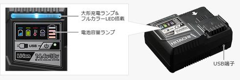 急速充電器:UC18YDL形特長の説明