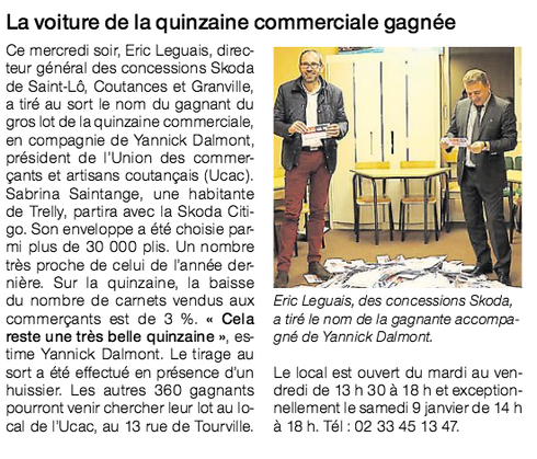 Ouest-France, 31/12/2015