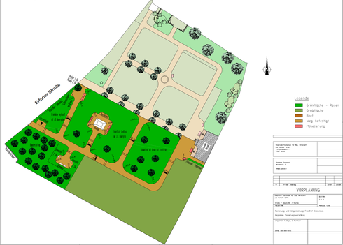 Entwur für den Friedhof Crawinkel/ Quelle: Projektgruppe Bauschule Gotha