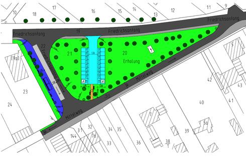 """2. Entwurf der """"Insel"""" vor der Schule/ Quelle: Projektgruppe der Bauschule Gotha"""