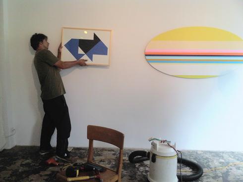 Heijo Hangen und Nicholas Bodde in der Galerie SEHR September 2015