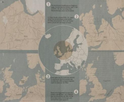 "Zeitungsartikel ""Europas versunkene Landbrücke"" NZZ, 27.7.2018, Quelle: EUROPE'S LOST FRONTIERS, HENRY BUGLASS, NZZ –Infografik/lea"