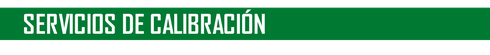 SERVICIOS DE CALIBRACION