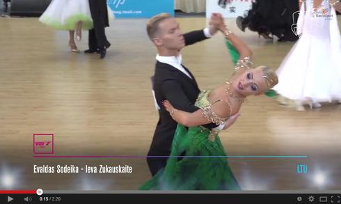 3位 Evaldas Sodeika & Ieva Zukauskaite動画 タンゴ