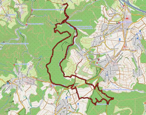 """GPXTrack """"18 km Butterpfad Wanderung"""""""