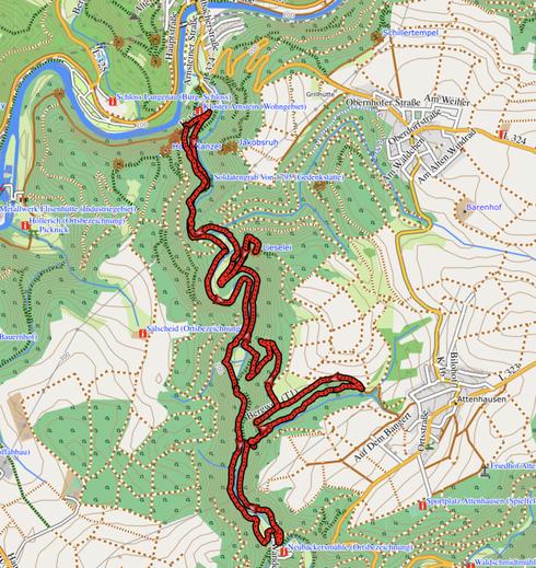 """GPXTrack """"14 km Jammertal, Lieselay und Kammerlay"""""""