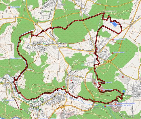 """GPXTrack """"22 km Zweierlei Tour"""""""