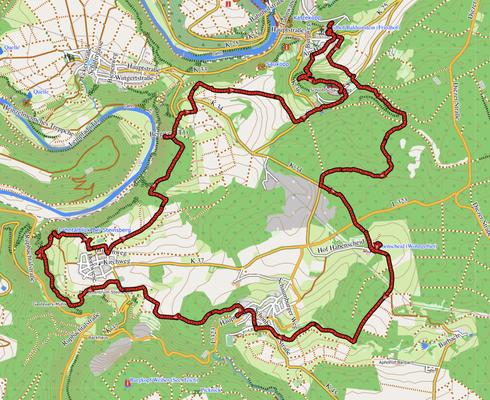 "GPXTrack ""19 km Küppeltour"""