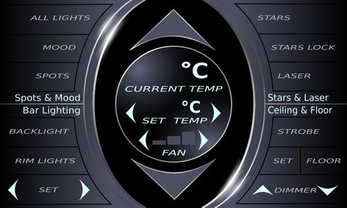 GUI Car Interior conrol nextion