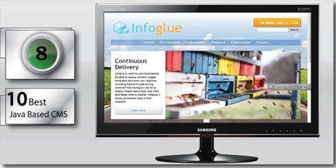 InfoGlue comes in at number Eight on the 10 best Java based CMS