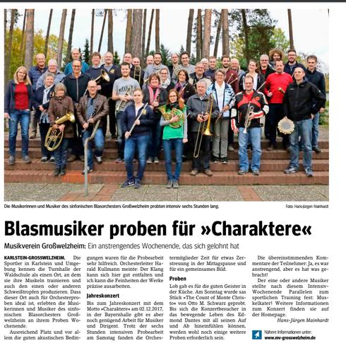 Probesamstag 2017, Unser Echo v. 10.11.2017