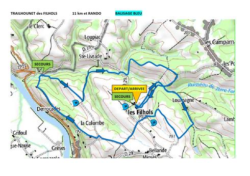 parcours 11km et rando 2016