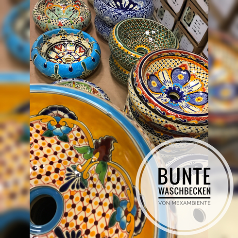 Colorful mexican sinks in Europe by Mexambiente