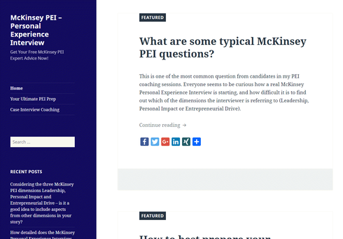 The McKinsey PEI Blog