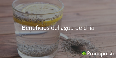 Beneficios del agua con chía