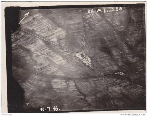 Photo aérienne Xivray – Juillet 1916