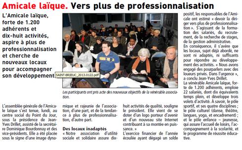 Le Télégramme de Brest -18 janv 2013