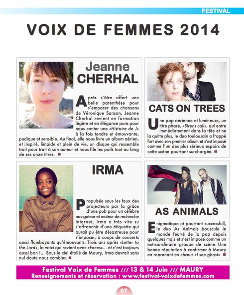 revue de presse B-aware voix de femmes