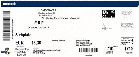 Nr. 105 - 17.10.2013 - F.R.E.I. - Headcrash, Hamburg