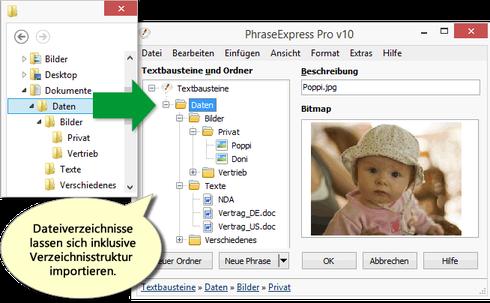 Textbausteine in PhraseExpress 10 importieren