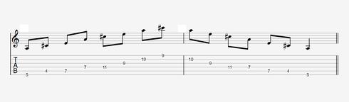 Diagonale Arpeggios auf der Gitarre - Pattern 2