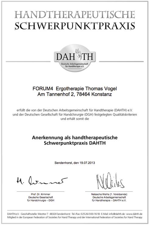 Handtherapeutische Schwerpunktpraxis Ergotherapie in Konstanz