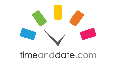 time and date Feiertage Sonne und Mond Kalender Weltzeituhr Zeitzonen Rechner Logo