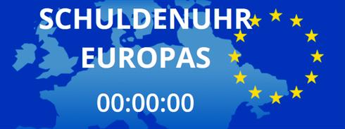 Schuldenuhr Europas smava Logo Staatsverschuldungen