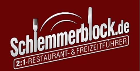 Schlemmerblock 2:1 Restaurantführer Gastronomieführer Logo
