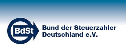 BdSt Bund der Steuerzahler Deutschland Logo Schuldenuhr Staatsverschuldung BRD Verschuldung Schulden Staatsschulden