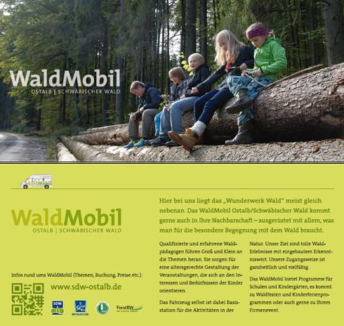Flyer WaldMobil Ostalb | Schwäbischer Wald