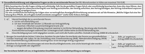 Berufsunfähigkeitsversicherung ohne Gesundheitsprüfung - Württembergische