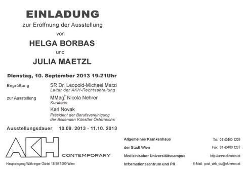 Helga Borbas julia Maetzl AKH Contemporary Galerie Time  Wir Empfehlen