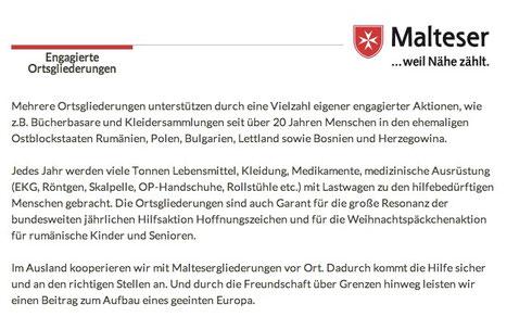 """""""Auslandsarbeit ... Hilfe über alle Grenzen hinweg"""" ..titelt Ansprechpartner und Auslandsbeauftragter  Georg Hornung - Tel. (0661) 42666"""