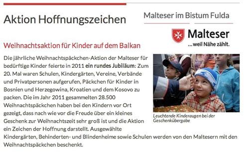 Malteser-Internetauftritt 2011 im Bistum Fulda