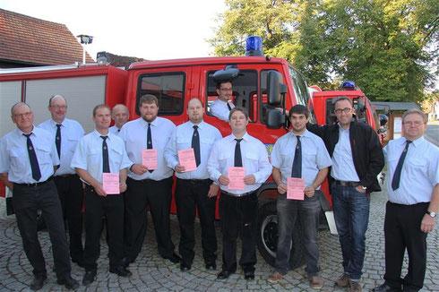 Übergabe der Fahrerlaubnis für Feuerwehrfahrzeuge bis 7,5 to Foto: A.Kemnitzer