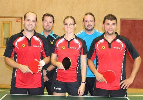 Martina Wilder, Thomas Berger und Lukas Kloc spielten gegen Stockerau/5.