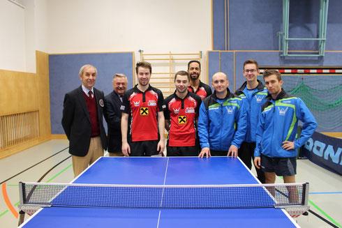 Martin Kinslechner, Michael Kufmüller, Amir Ahmed gegen Yuri Matviychuk, Mario Varga und Mario Padera hatten eine knappe Partie zu bestreiten.