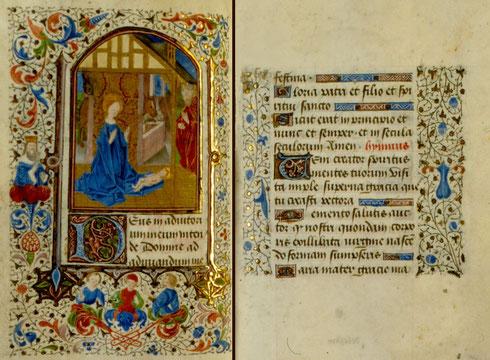 Manuscrit en dépôt à la bibliothèque municipale d'Amiens