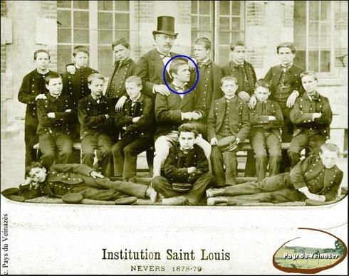 Institution Saint-Louis de Nevers - Année scolaire 1878-1879 - Fonds Gizolme - Coll. Mairie de Montsalvy