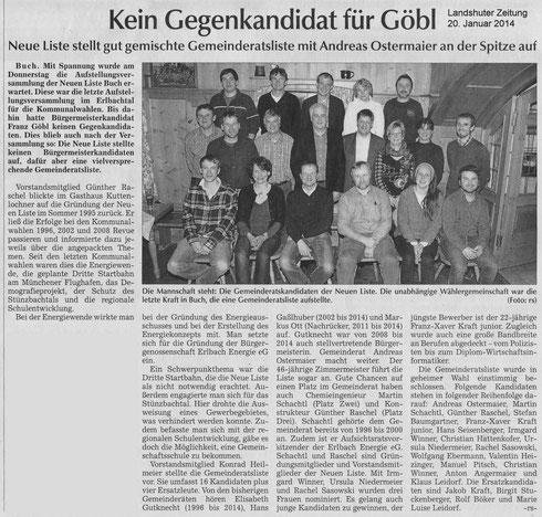 Landshuter Zeitung, 20.01.2014