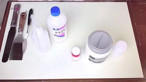 アクリル絵具の作り方-1 How to make acrylic color