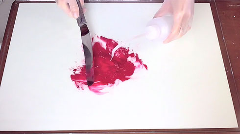 アクリル絵具の作り方-3 How to make acrylic color