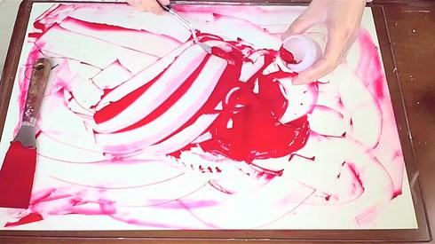 アクリル絵具の作り方-7 How to make acrylic color