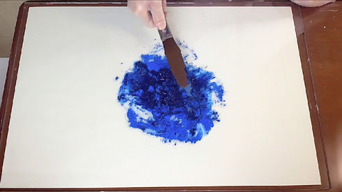 油絵具の作り方-3 How to make oil color