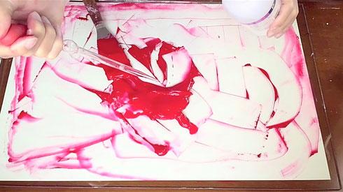 アクリル絵具の作り方-6 How to make acrylic color